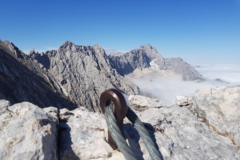 Klettersteigset Verleih Garmisch : Klettersteigführung auf die alpspitze mit bergführer alpinschule