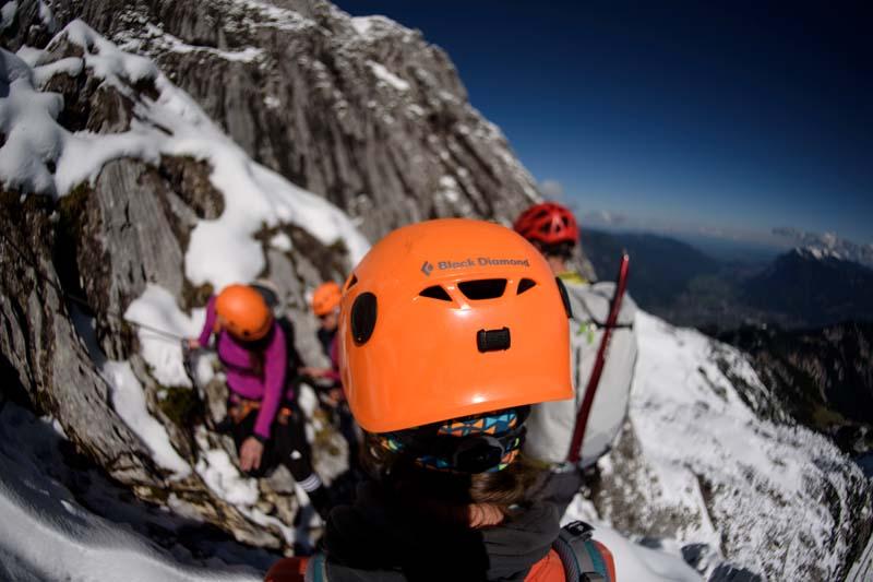 Klettersteigset Ausleihen Garmisch : Bilder vom klettersteig an der alpspitze alpinschule garmisch