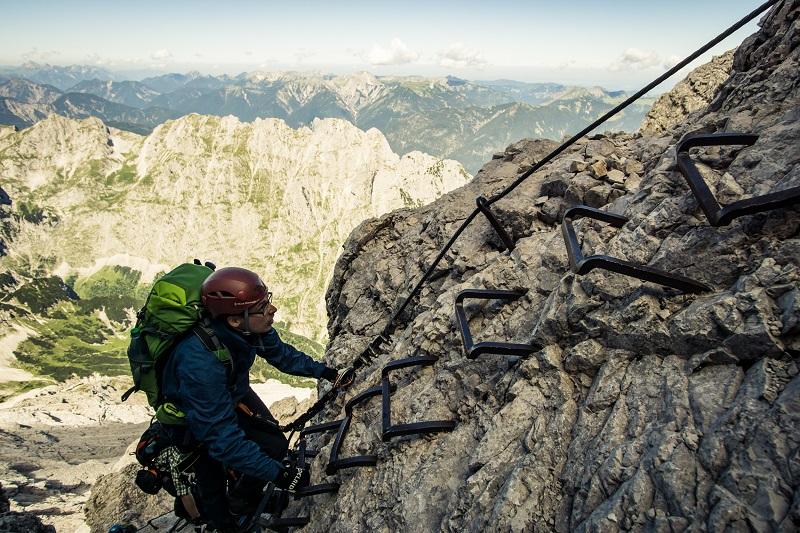 Klettersteig Alpspitze : Klettersteigführung auf die alpspitze mit bergführer alpinschule