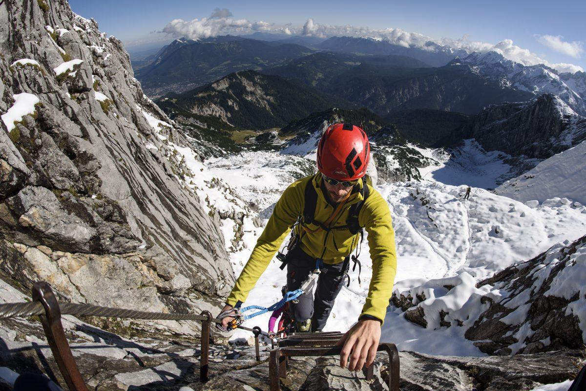 Klettersteig Garmisch : Verhältnisse bedingungen alpspitze klettersteig alpinschule